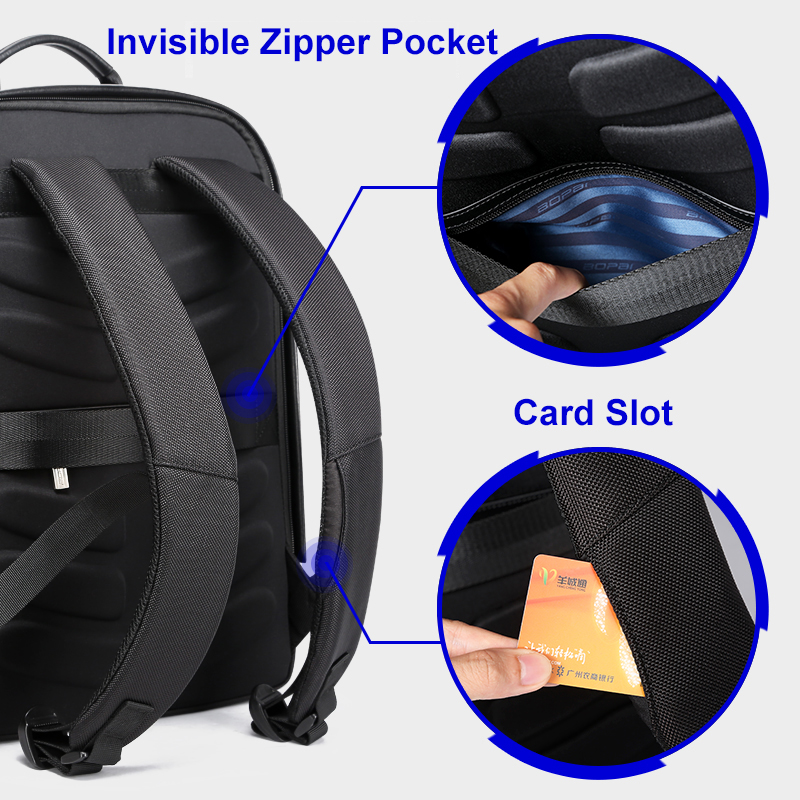 BOPAI Laptop Backpack External USB Charge Port for 15.6 inch Computer Backpacks Anti theft Waterproof Bags for Men Drop Shipping-in Backpacks from Luggage & Bags    3