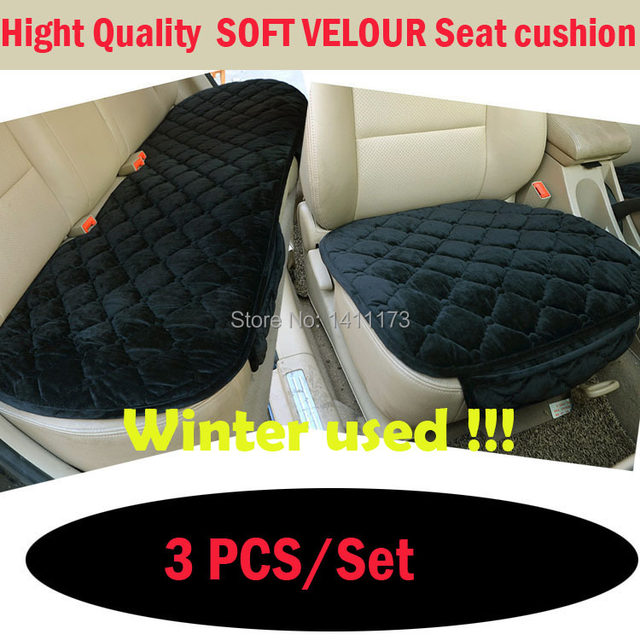 Winter Warm Car Seat Cushion Sets Decorative Covers Supports For 5 Seats Universal Size Honda Fit 3 PCS Set