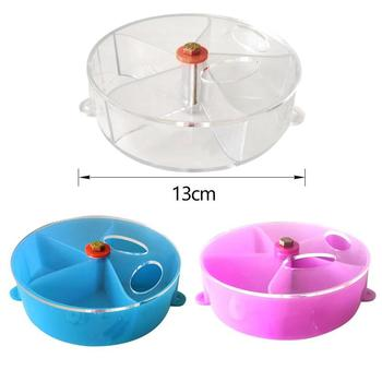 Rotating Acrylic Parrot Feeder Toys Parrots Small Animals Pet Bird Foraging Ball Food Plate Wheel Pendant Cage Decoration 1