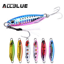 ALLBLUE New DRAGER Metal Cast Jig Spoon 15G 30G Shore Casting Jigging Lead Fish Sea Bass Fishing Lure Artificial Bait Tackle(China)