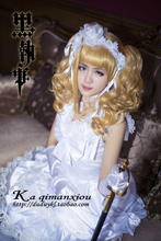 Negro Mayordomo Elizabeth Cosplay Disfraces Vestido Lolita Del Anime de Japón incluye calcetines