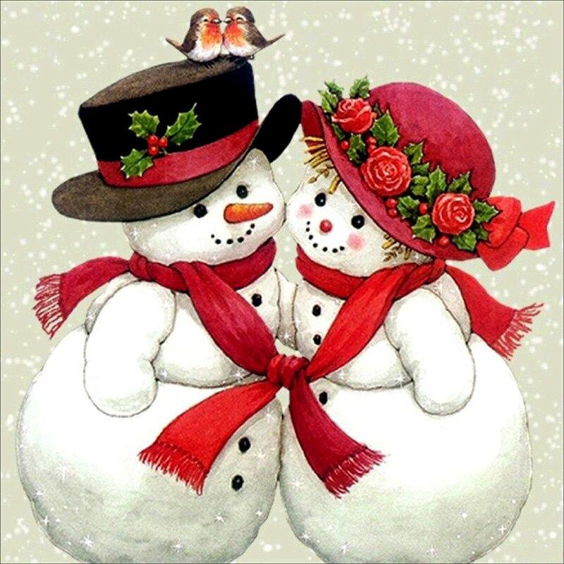 Новогодние открытки пары