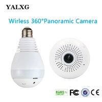 1080P H 264 HD Wifi Bulb Light Mini Fisheye CCTV Camera Local Alarm Led 3D Panoramic