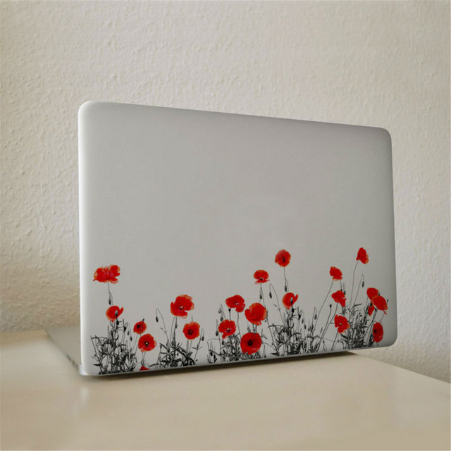Mimiatrend Red Flower Pattern For Macbook Sticker Vinyl Decal Laptop  Stickers for Apple Macbook Air Pro
