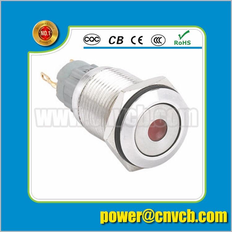 IN109 16mm alarm indicator light IP67 waterproof metal pilot lamp
