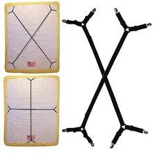 2 unids/lote 4 esquina largo ajustable elástico sábana titular clip para colchón cubierta de sujetadores mantas pinzas de fijación antideslizante Correa