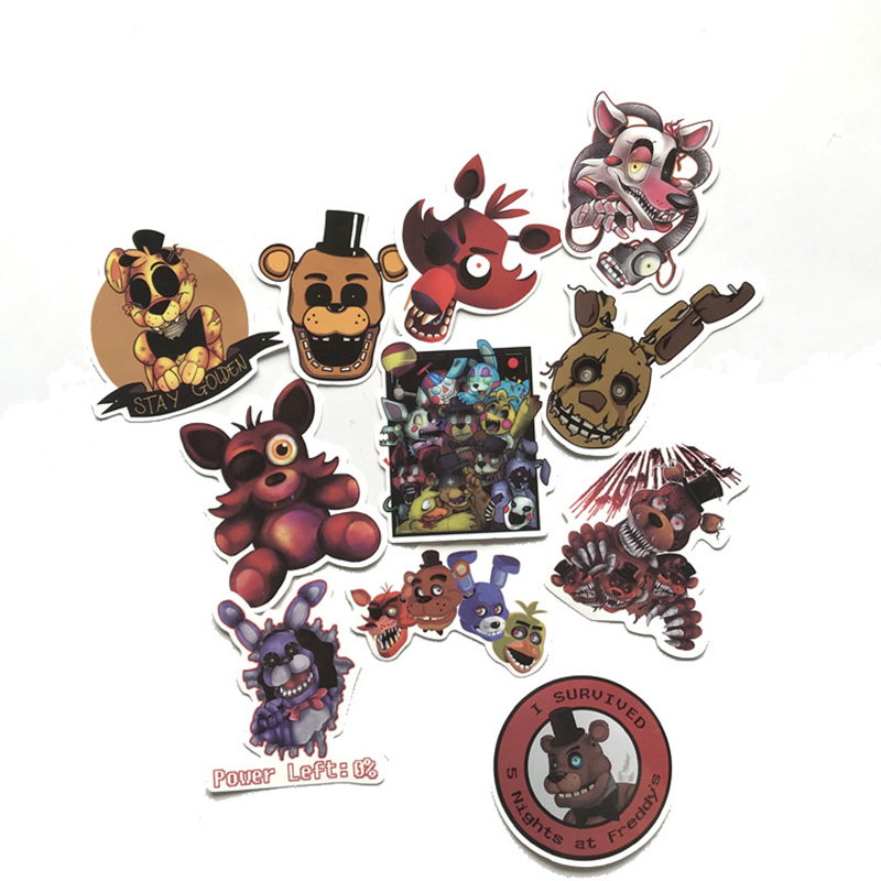 22pcs Five Nights At Freddy Bike Car Laptop Stickers Waterproof Luggage Decal For Skateboard Toy Children For Gift F2