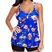 Two Pieces Swimwear For Women Swimsuits Push Up Swimming Bench Bathing Suits Floral Skirt Style