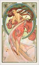 Dance,Alphonse Mucha painting for bedroom decoration,High quality