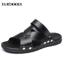 Mens Beach Shoes Fashion Leather Men Casual Sandals Summer Shoes Beach Breathable Buckle Gladiator Sandals Men Zapatillas Hombre цены онлайн