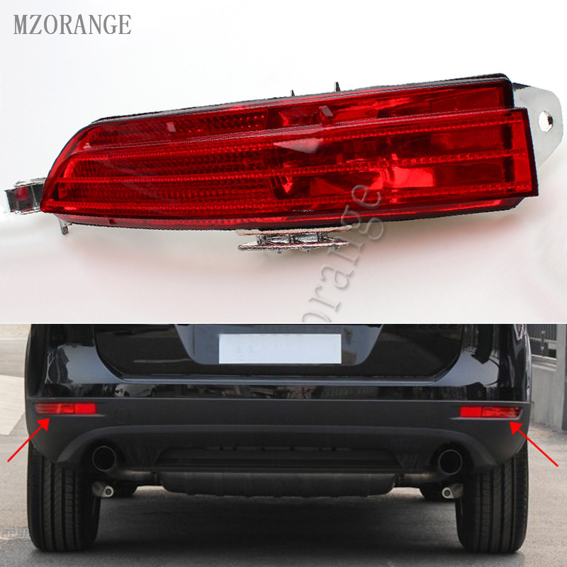 MZORANGE 1 Piece Car Tail Light Turn Signal Lamp Left / Right Rear Bumper Reflector Red Fog Light For VW TOUAREG 11-14 RHD rear bumper light fog lamp for mazda cx 5 left and right top quality