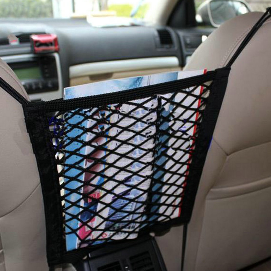 Universal Car Net Seat Storage Mesh Organizer Bag Luggage Holder Pocket for iphone cell phone hot sale