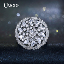 UMODE Vintage Bague Marquise Cut CZ  Sunflower Shaped Cocktail Rings For Women Valentine's Day Gifts Jewelry AUR0207