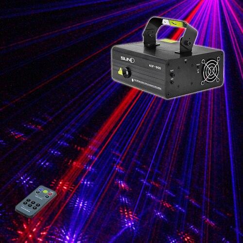 New SUNY Laser éclairage de scène Firework motif 650 mw bleu rouge DJ Party spectacle de lumière LED effet projecteur fantastique noël Bar