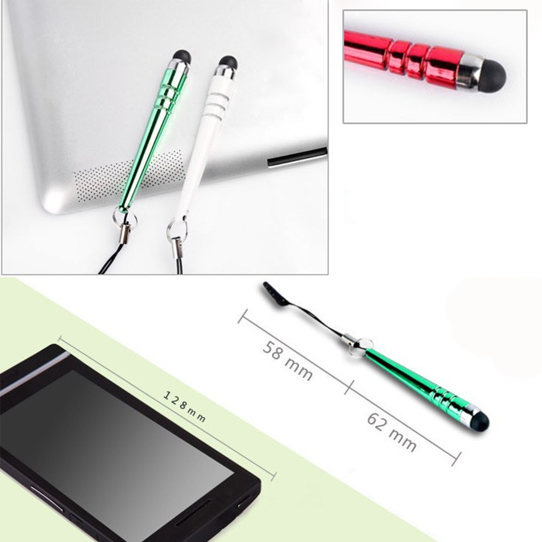 Marsnaska Luxury Diamond Crystal Stylus Touch Screen Pen Stylus For iPhone Tablet Laptops Universal Jack EarPhones dust plug