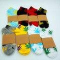 De alta Calidad de 20 Colores de Los Hombres Weed Calcetines Hombres Mujeres calze uomo Style Hip Hop Monopatín Algodón Calcetines Calcetines Meias WZ008