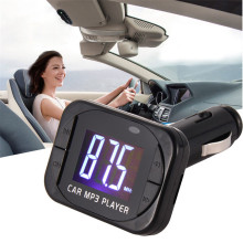 Top Quality MP3 Player Wireless FM Transmitter Modulator Car Kit USB SD MMC LCD with Remote Control 8*
