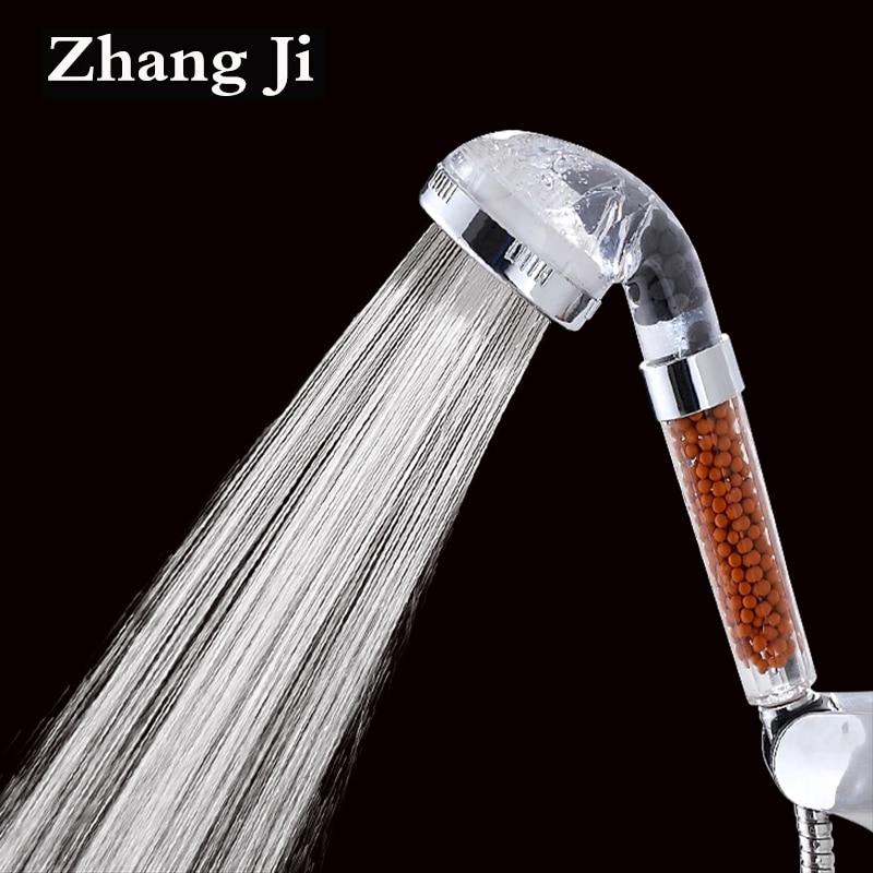 Agua baño ducha terapia anión spa cabeza de ducha ahorro de agua ducha de lluvia cabeza del filtro de alta presión ABS aerosol ZJ013