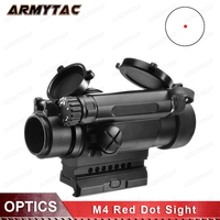 OPTICS M4 Red Dot Sight Airsoft Riflescope Tactical Optical Hunting Shooting Weapon Rifle Gun Scope AO3032