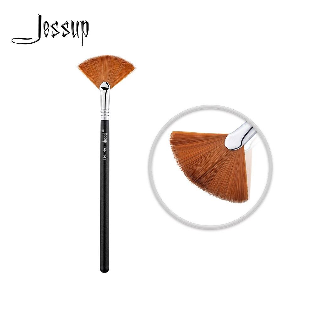 Nuevo Jessup maquillaje cepillo cepillos cosmético al por mayor cepillo de pelo sintético herramienta de maquillaje resaltador FAN 141