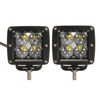 1 Pair 4 Inch 40W LED Work Light Bar For Indicators Motorcycle Driving Offroad Boat Car