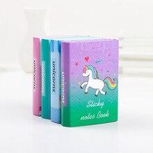 12 наборов блокноты для записей Липкие заметки Kawaii Единорог Пони блокнот дневник Скрапбукинг наклейки офисные школьные канцелярские блокноты
