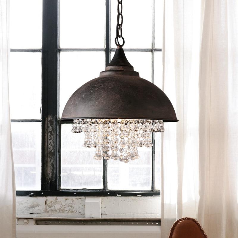 colgante de de Lámpara Vintage con cristal hierro colgante 2DEHIW9Y