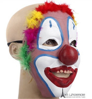 Free Shipping Joker Mask Soft Rubber Cool Funny Scary Halloween Party Costumes Toy Dress Make up Horror Prank Joke Supply Gifts