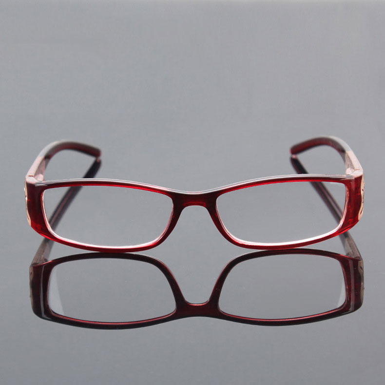 13577aa660 Floral Reading Glasses Rhinestone Women Gafas de Lectura Eyeglass Frames  Luxury Fashion Spectacles +100 150 200 250 300 350 400