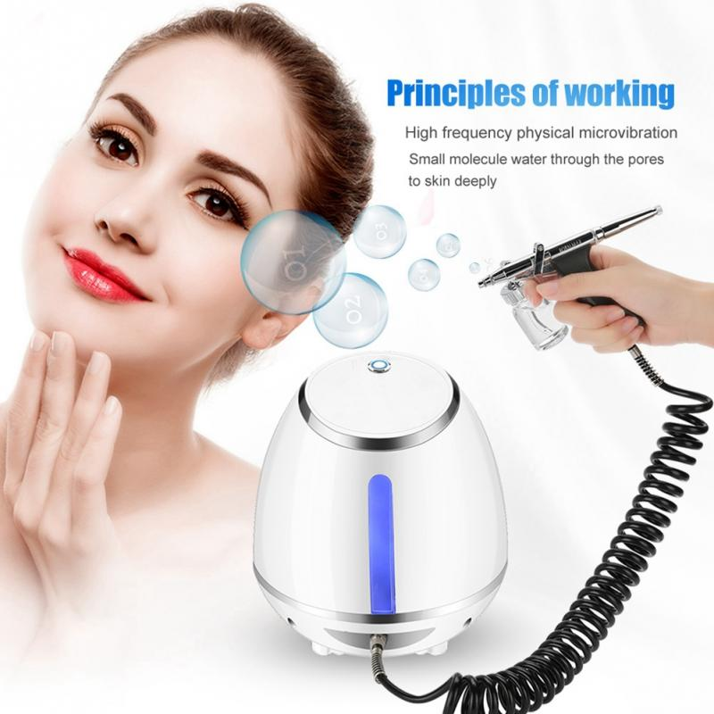 US Plug 100-240V New Oxygen Water Face Skin Injection Spray Wrinkle Removal Skin Rejuvenation Spray Water Injection Skin Care flowers water lilly motorola droid 2 skinit skin