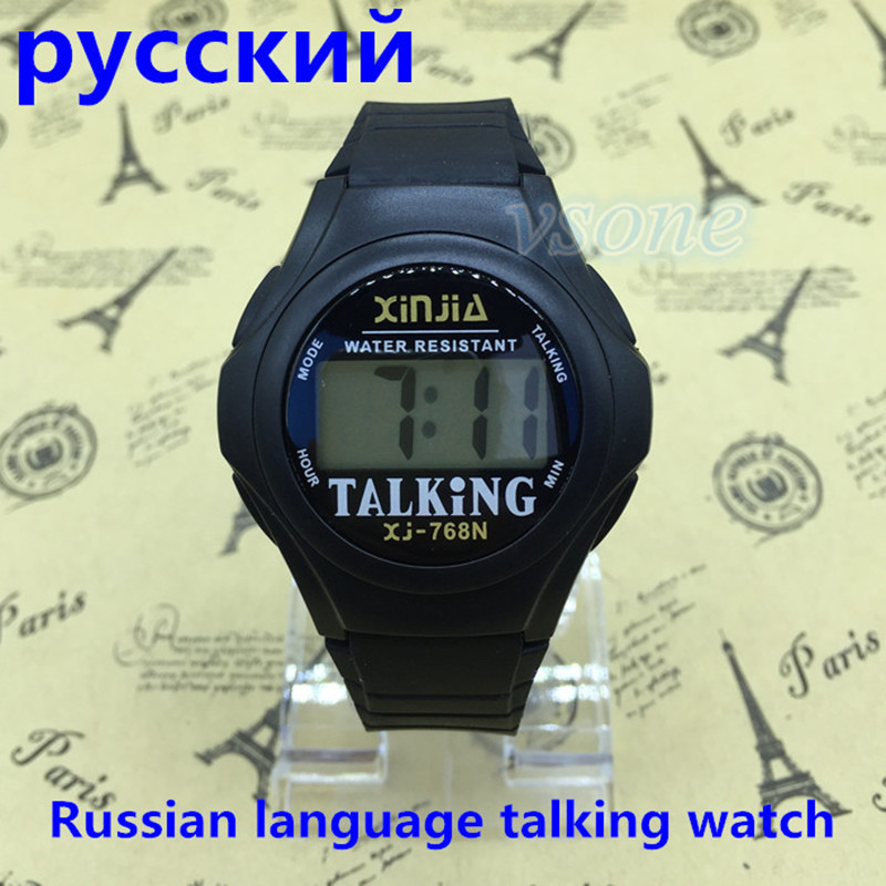 Talking-Watch Speak Russian Electronic-Sports for The Blind And Elderly Visially Impaired-People