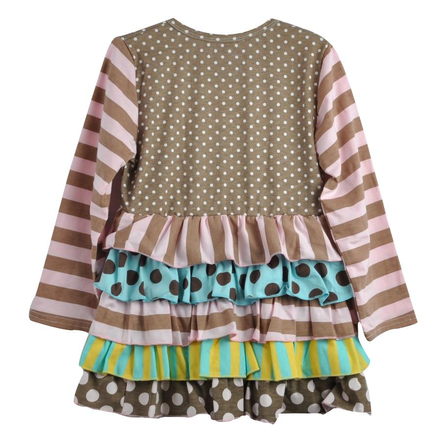 Fashion Style Blomma Tunika Polka Dots Ruffle Småbarn Flickor Remake - Barnkläder - Foto 3