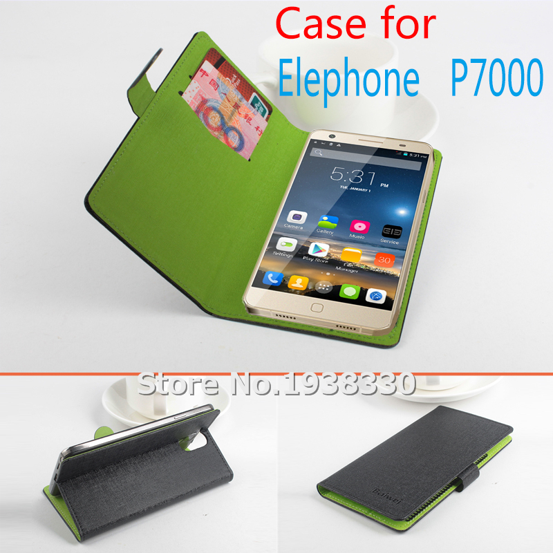 For Elephone P7000 luxury Hit color 2 card slots Protective Holster with stand Leather case For P7000 MTK6752 Cell phones