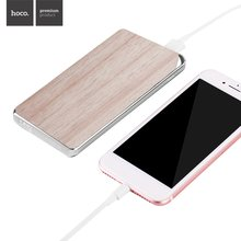 HOCO Power Bank 10000mAh Large Capacity Stone And Wooden Powerbank Polymer Lithium Battery LED Lights Power Supply