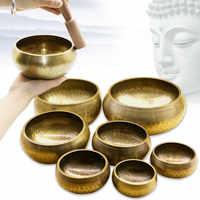 Buddhist Copper Tibetan Bowl Singing Bowl Decorative-wall-dishes Home Decoration Decorative Wall Dishes Tibetan Singing Bowl