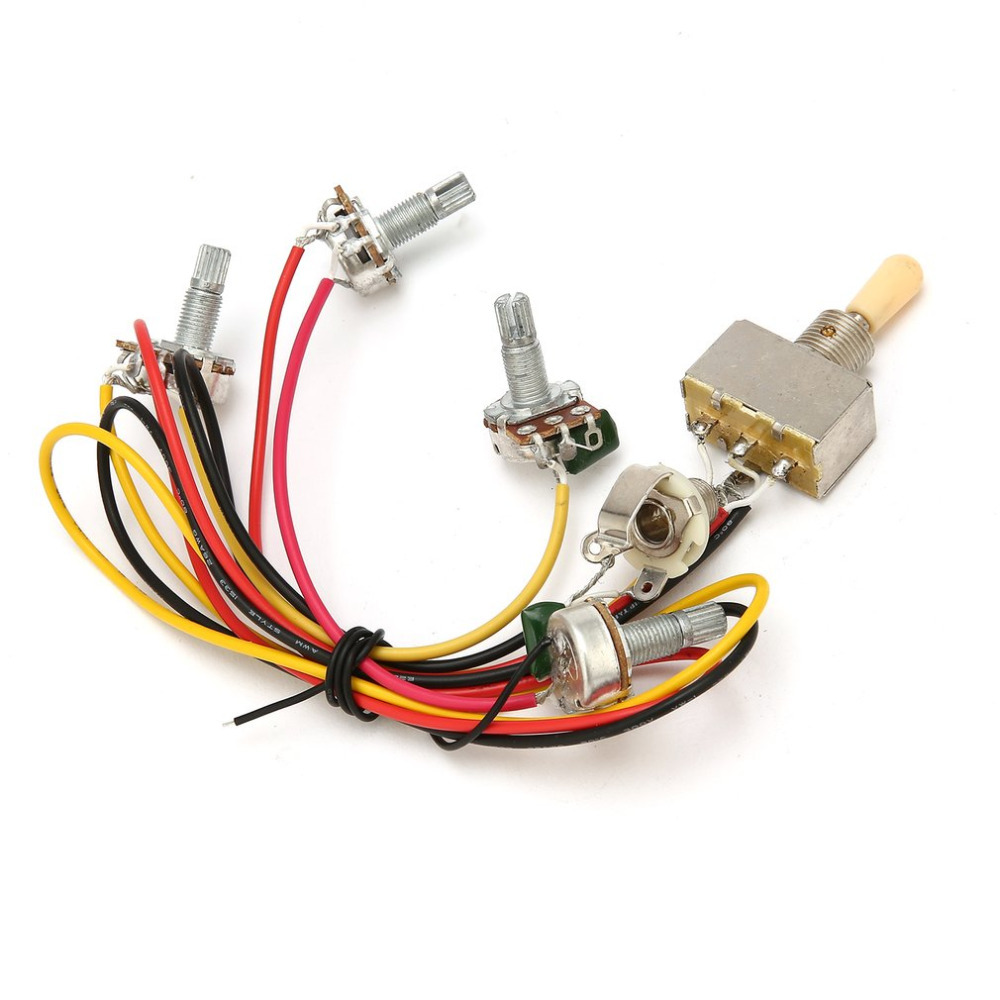 hight resolution of 1 full set lp sg electric guitar pickup wiring harness potentiometers kit replacement 3 way toggle