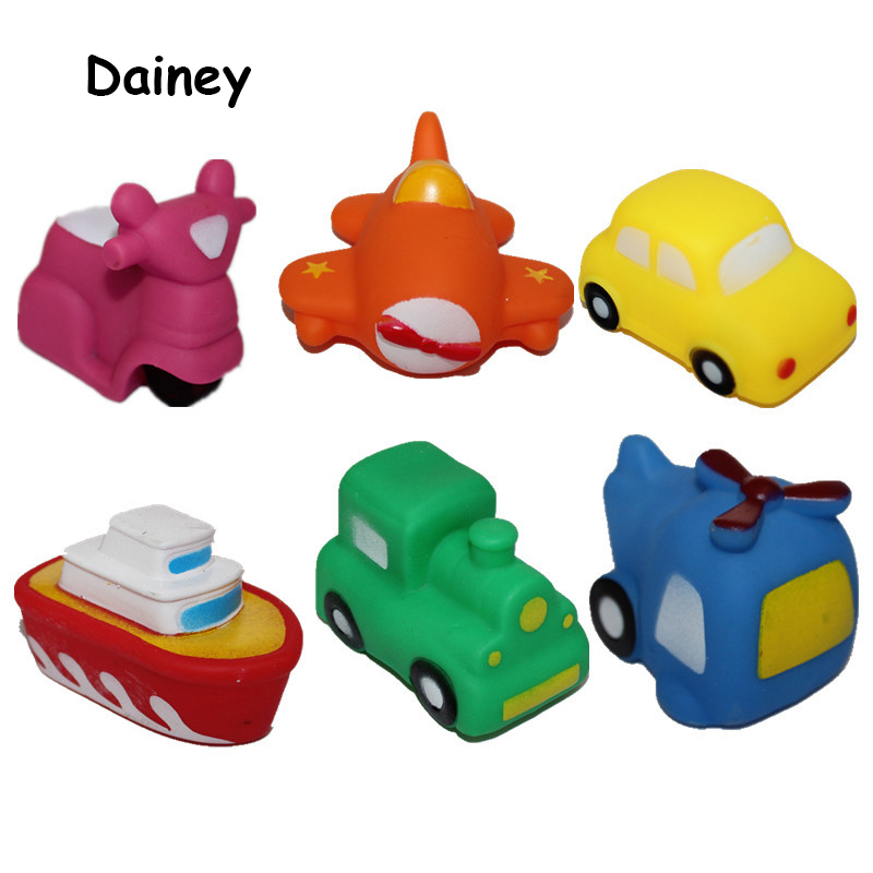 1PCS Bath Toys in the Bathroom Baby Toy for Children Water Spray Animal Soft Rubber Car Plane ...