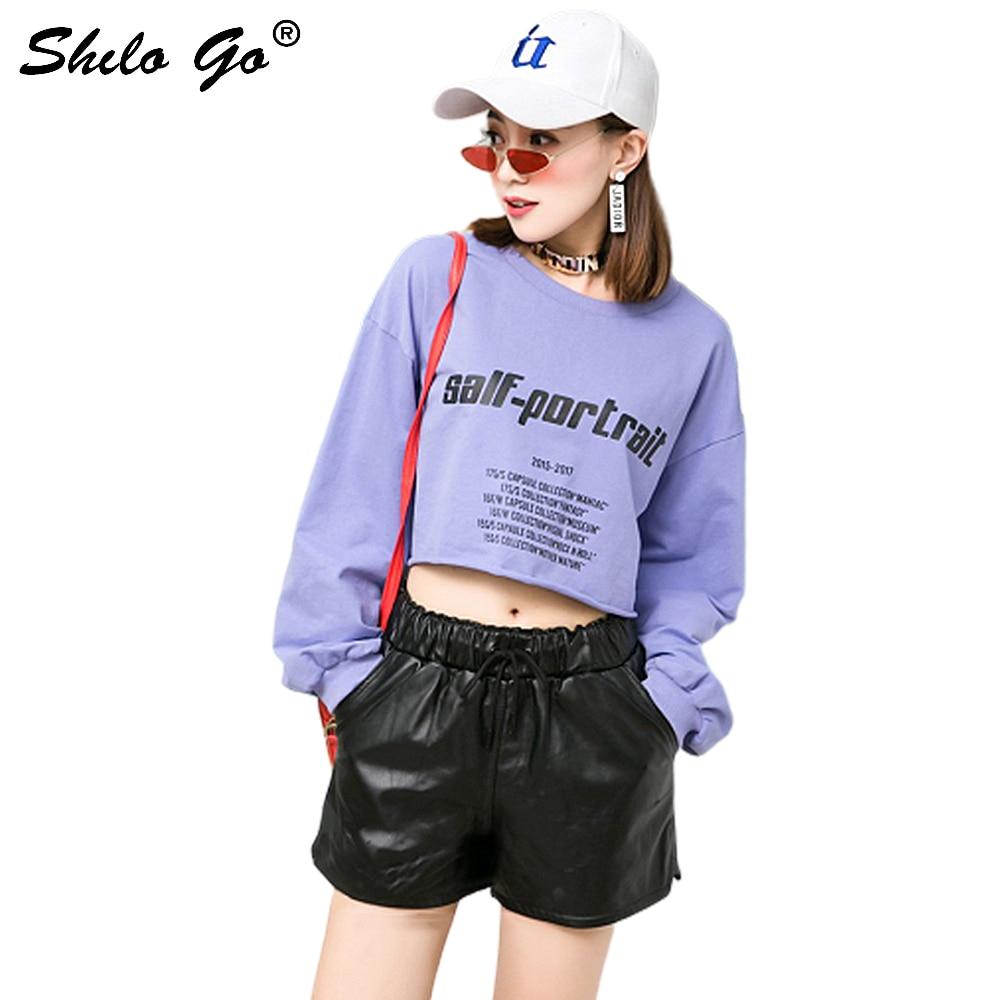 Casual Leatherr Shorts Women Summer Concise Sheepskin Genuine Leather Hot Shorts Stretch High Waist Black Female Mini Shorts