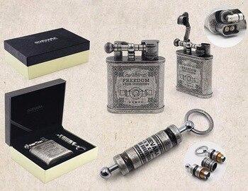 GUEVARA Nostalgic Old Vintage Cigarette Lighter Cigar Drilling Punch Set COHIBA