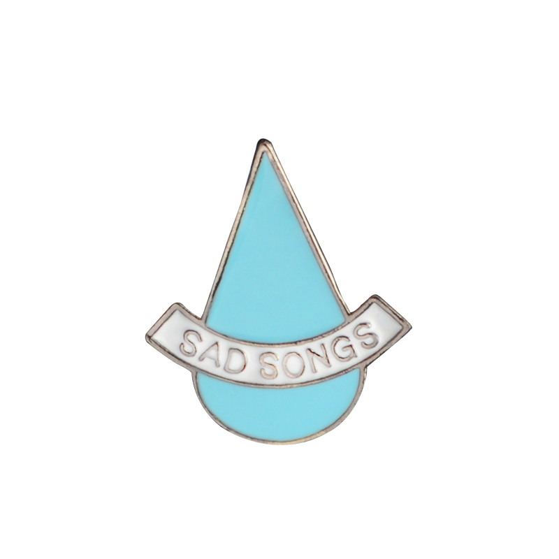 Blue Tears Pin Sad Songs Metal Enamel Brooches Lapel Pin Cartoon denim bag Backpack Hat Pin Badges Gift Jewelry for kids image