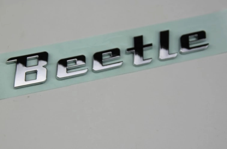 New product auto spare parts car accessory New beetle logo beetle letter bagde beetle emblem chrome Decal sticker for VOLKSWAGEN auto chrome camaro letters for 1968 1969 camaro emblem badge sticker