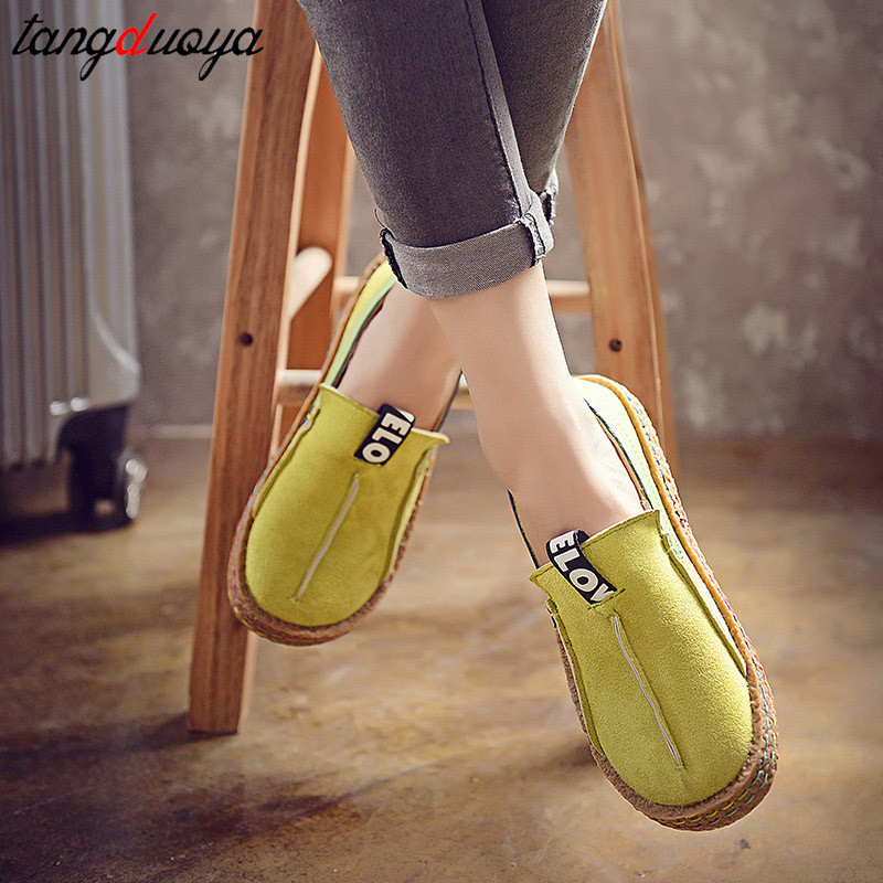 2020 Ladies Shoes Flats Round Toe Fashion Women Shoes Casual Shoes Women Slip On Flat Loafers Women Footwear Chaussures Femme