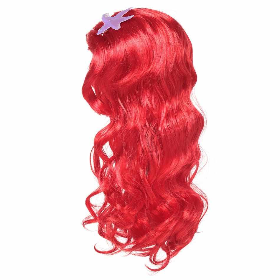 PaMaBa Детские Принцесса Жасмин человеческие волосы аксессуары для маскарада на Хеллоуин девушки Рапунцель Золушка платье парик принадлежности для детской вечеринки