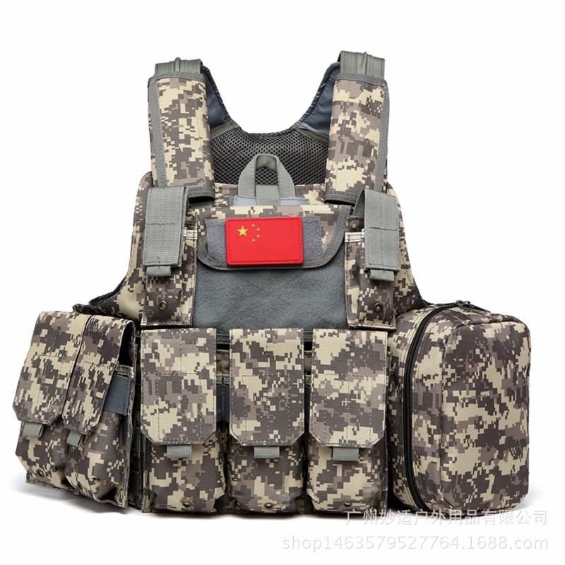NEW Eight pocket commando tactical vest U.S. combat outdoor CS field cycling puncture-proof military Desert Hiking vest MOELL