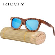 RTBOFY Fashion Wood Sunglasses Men And Women Polarized New Brand Wooden Sunglasses High Quality Bamboo Frame