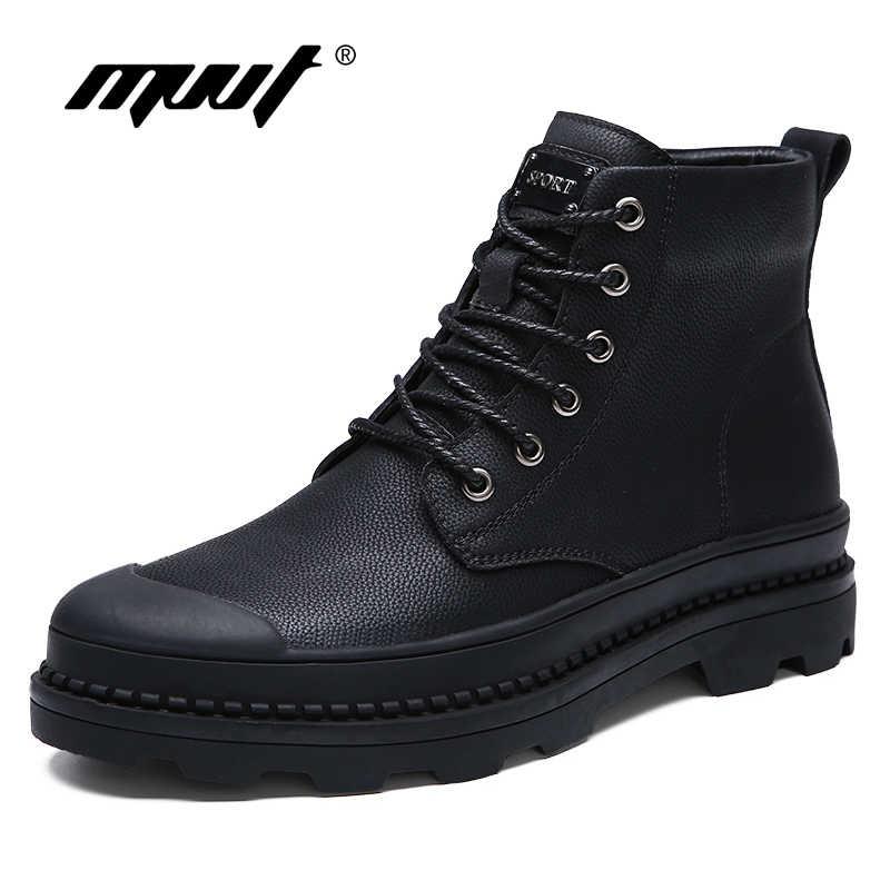 Классические модные мужские зимние ботинки с мехом, сохраняющие тепло,  Короткие Плюшевые мужские ботинки для 9541921f13a