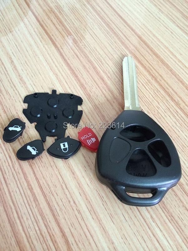3B Remote key Case Key Shell Toyota Camry/Corolla/Prado/Yaris TOY43 Blade Logo Good Quality - Auto world store