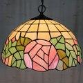 12 дюймов Европейский Стиль Тиффани цвет стекло розовый романтическая роза подвесной светильник спальня столовая
