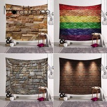 Vintage 3D Stone Bricks Wall Tapestry Hippie Boho Home Decor Tapestry Wall Hanging Marbling Headboard Dorm Throw Wall Carpet