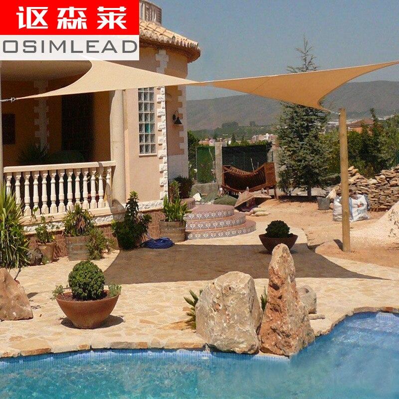 Livraison gratuite 5 m X 5 m Rectangle Rectangle ombre bâches tissu nouveau rectangulaire UV étanche Rectangle soleil ombre voile